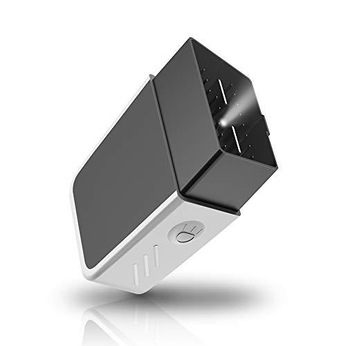 CAR WORK BOX OBD2 Bluetooth 4.0 con Illuminazione a LED, OBDII ELM327 Strumenti Diagnostici, Wireless Codice Errore di Scansione per Android iOS Windows