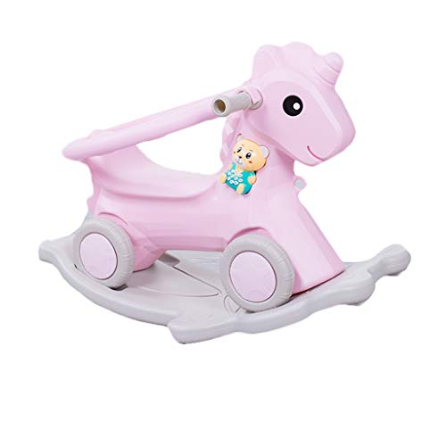 Lowest Price! Rocking horse LITING Children's Indoor Thickened Sliding Cart Dual-use Small Trojan wi...