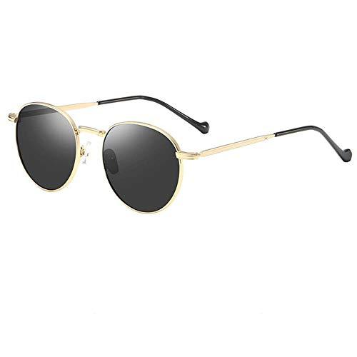 De nieuwe metalen gepolariseerde zonnebril dameschauffeurs led ronde zonnebril frame zonnebril fashion tij 201988