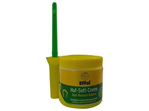 Set Effol Huf - Soft - Creme + Effol Pinsel - Fix - feuchtigkeitsregulierende Intensivpflege mit Glycerin, Hamamelis