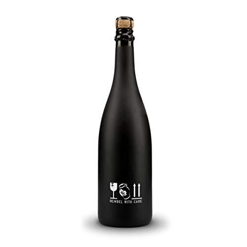 Bembel with Care Apfelschaumwein 0,75l Apfel-Sekt Apfelwein in schwarzer Design Flasche