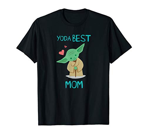 Star Wars Yoda Best Mom Hearts Mother's Day T-Shirt