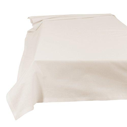 SHC Textilien Betttuch Bettlaken Haustuch Tischdecke 100% Baumwolle 200 x 250 cm naturweiß/cremè