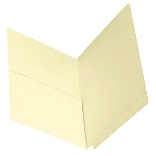 Smead End Tab File Pocket, Shelf-Master Reinforced Straight-Cut Tab, 1 Pocket, Letter Size, Manila, 50 per Box (24115)