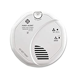First Alert BRK SC7010BV Smoke and Carbon Monoxide (CO) Combo Detector with Talking Photoelectric Sensor