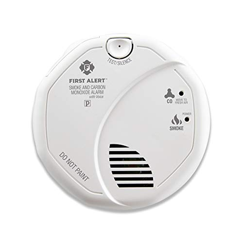 First Alert BRK SC7010BV Hardwired  Smoke and Carbon Monoxide (CO) Detector with Talking Photoelectric Sensor