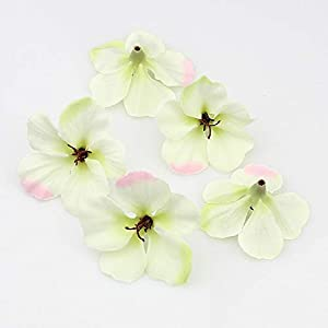 Artificial and Dried Flower 200pcs/lot Spring Silk Artificial Flower Heads ,Gladiolus Cymbidium Flowers for Wedding Decoration