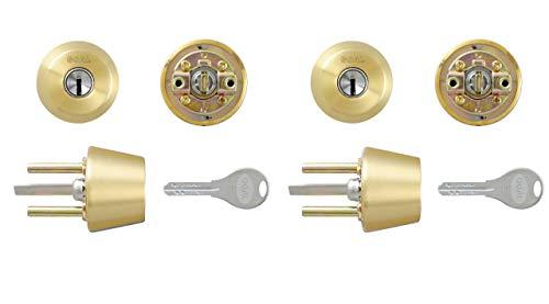 GOAL (ゴール) AD用 V18交換シリンダー ゴールド色 2個同一キー