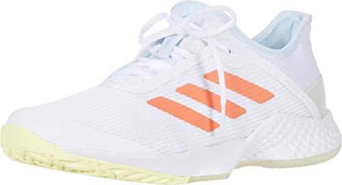 adidas Women's Adizero Club w Tennis Shoe, Chalk Blue/Semi Frozen Yellow/Noble Indigo, 6 M US