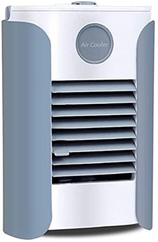 XJYDS Refrigeratore d'aria portatile, 3 in 1 piccolo condizionatore di aria condizionata piccolo e umidificatore, depuratore e diffusore aromatico, 3 velocità della ventola, 7 luci a LED Ventola di ra