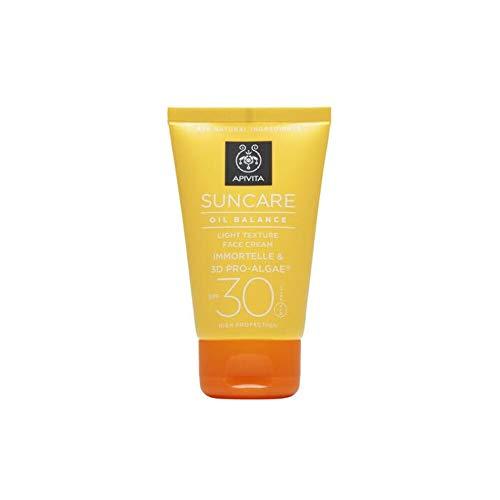 Apivita Suncare Crema Facial Textura Ligera Piel Grasa SPF30, 50ml