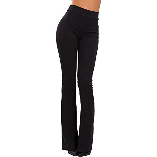 Toocool - Pantaloni Donna Campana Aderenti Zampa Elefante Elasticizzati Hot Sexy JL-2148 [S,Nero]