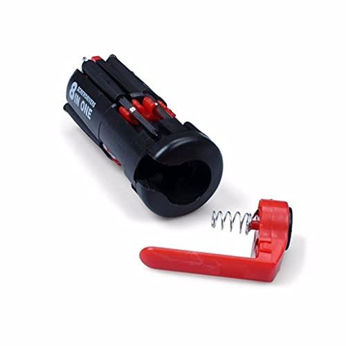 LBJN Útil 8 en 1 Destornillador de múltiples portátiles con 6 Herramientas de antorcha LED iluminar el Conjunto de Herramientas de Linterna