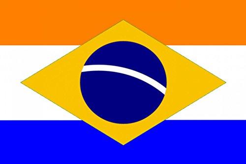 magFlags Drapeau Large Dutch Brazil Variant | Brasil Holandês Variante | Drapeau Paysage | 1.35m² | 90x150cm