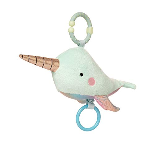 Manhattan Toy Under The Sea Narwhal Baby Teether & Travel Pull Toy