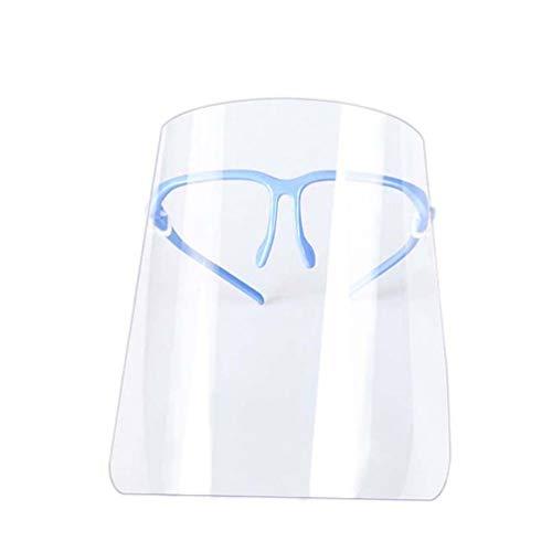 EXCEART 2Pcs Masque Facial Transparent Masque Facial de Sécurité Lunettes de Protection pour Les Yeux Et Le Visage Clairs Masque Facial Couverture Complète Bleu