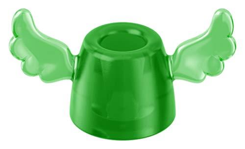 koziol Zahnbürstenhalter Hermes, Kunststoff, transparent grün, 39 x 74 x 43 cm