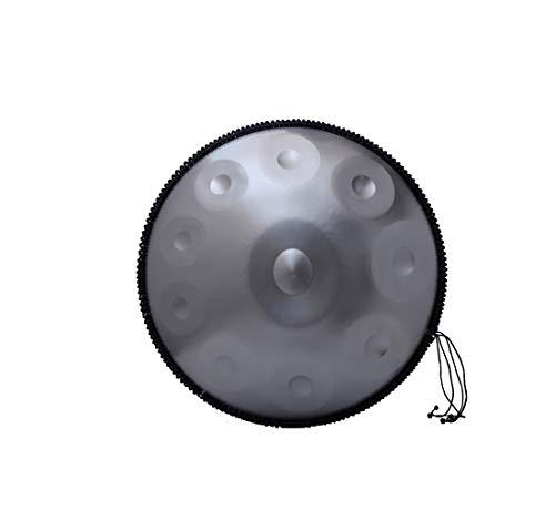"""Harmonic HandPan d-moll 9 Hinweise Stahlhandtrommel + Soft Hand Pan-Tasche (22"""" (56 cm), (9 Hinweise D3 A B C D E F G A), für Meditation, Yoga und Zen mit Tragetasche Metallständern"""