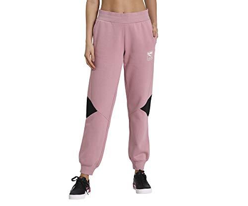 PUMA Rebel Pants FL cl, Pantaloni Donna, Rosa, S