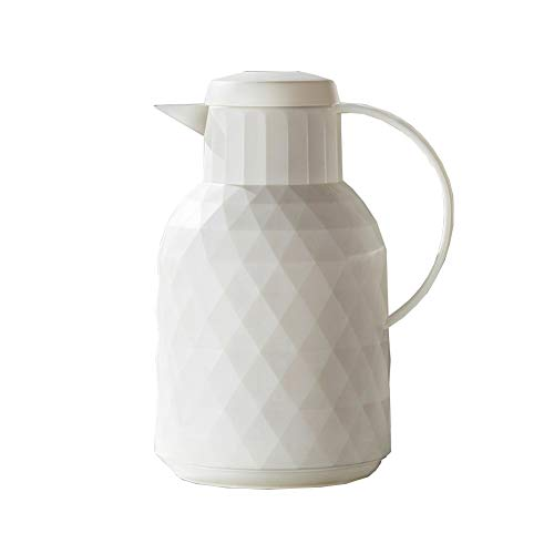 Miao. Moda Vacuum Jug - hoogwaardig glas liner vacuum geïsoleerde koffie pot - 24 uur warmte en koude opslag thermoskan voor sap/melk/thee/water, etc. - 1000 ml
