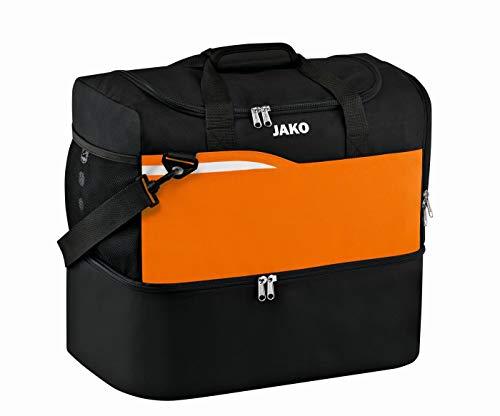 JAKO Competition 2.0 Bolsa de Gimnasio, Infantil, Negro/Naranja, 45x30x42 cm