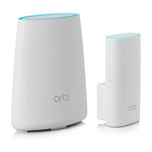 Netgear Orbi RBK30 WiFi Mesh AC2200, 2 unità per appartamenti e case su un piano, copertura Wifi fino a 200 mq