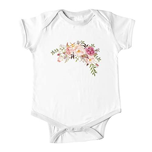 Romántico Acuarela Flor Ramo Bebé De Una Pieza