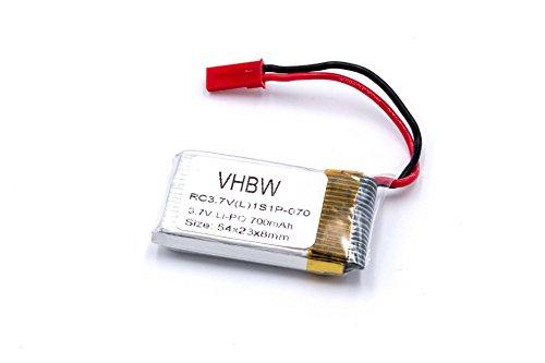 vhbw Li-Polymer Akku 700mAh (3.7V) für Modellbau Revell Ominus Quadcopter, 23950 Rayvore wie Revell DIDP1100, Revell 23951, 44192.