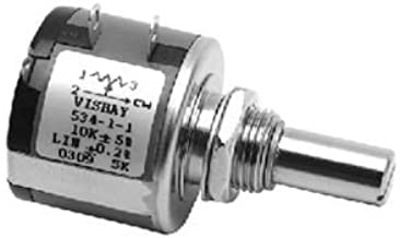SPECTROL 535-11103 WIREWOUND Potentiometer, 10KOHM, 5%, 1.5W; Track Resistance:10KOHM; NO. of Turns:5TURNS; Track Taper:Linear; Power Rating:1.5W; Resistance Tolerance:¦ 5%; Product Range:533 Series;