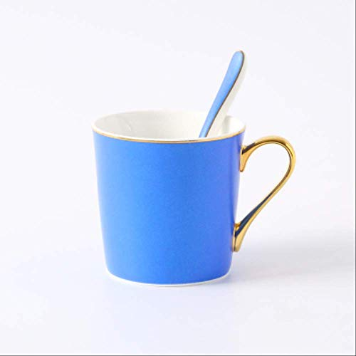 Pièce Nordic Bone China Mug Peint À La Main Phnom Penh Coffee Milk Cup Breakfast Couple Cup with Spoon Gift Box 350ml 1