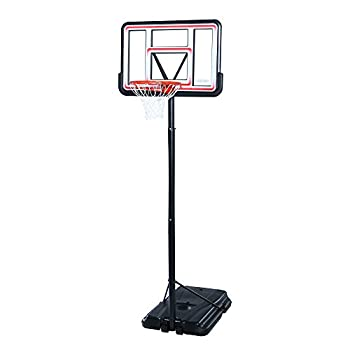 Lifetime Pro Court Height Adjustable Portable Basketball System 44 Inch Backboard Red/White