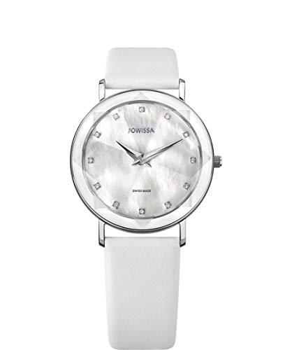 Jowissa Facet Schweizer Damenuhr J5.603.L Weiss/Silber