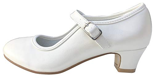 La Senorita Spaanse Flamenco schoenen - Ivory White