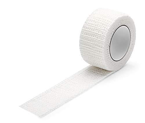 Zehenbinde Rinki Latexfrei, selbst haftende Baumwollbinde zum Fixieren von Verbänden oder Salben am Fuß (3x 2,5cm x 4m)