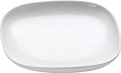 Alessi OVALE Mokka-Untertasse 4 Stück aus Steingut, Weiß