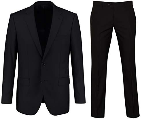 Keskin Costume homme, cravate incluse, noir - noir - 27