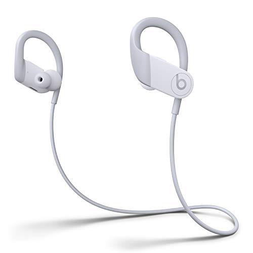 Auriculares Inalámbricos de Alto Rendimiento Powerbeats - Chip H1 de Apple, Bluetooth de Clase 1, 15 Horas de Sonido Ininterrumpido, Tapones Resistentes al Sudor - Blanco (Ultimo Modelo)