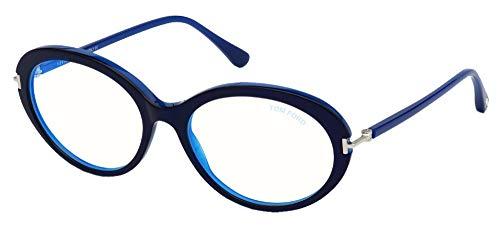 Tom Ford Gafas de Vista FT 5675-B BLUE BLOCK Shiny Blue 54/17/135 mujer