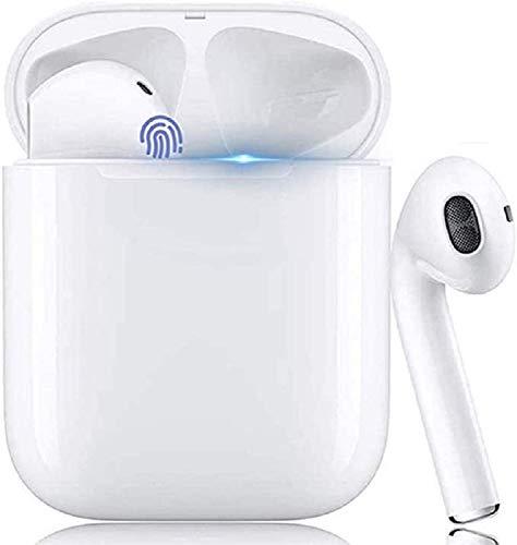 Cuffie Bluetooth,Auricolare Wireless in-Ear, Cuffie Stereo 3D Sportive, con Scatola di Ricarica 24 Ore e Associazione Automatica del Microfono Integrato per Samsung Huawei iPhone Android Airpods