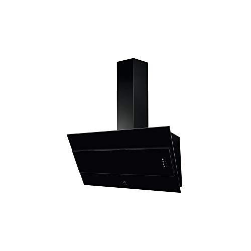 CAMPANA ELECTROLUX 90 CM DECORATIVA INCLINADA NEGRA (MAX 550 M3/h) chimenea negra incluida