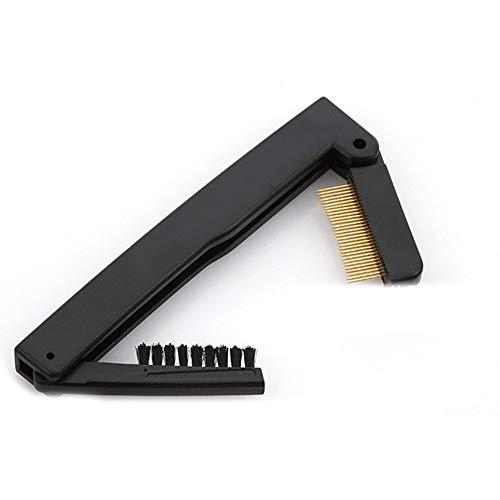 Secteur de la mode Make Up acier aiguille Mascara Guide applicateur Cils peigne brosse à sourcils Bigoudi outil esthétique (de pliage double)