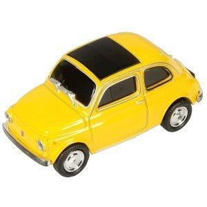 Autodrive USB-Stick \'FIAT 500\' Oldtimer gelb 16GB