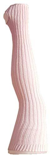 Damen Stulpen Formstabil Rosa 92cm 1 Paar Beinwärmer Extralang Oberschenkel / Overknee - Ballettstulpen Fersenloch