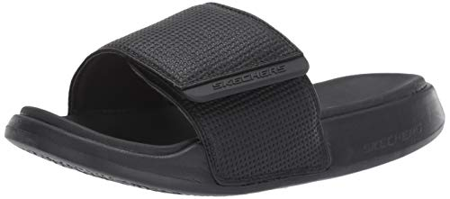 Mens Skechers Gambix 2.0 Slide Sandal in Black
