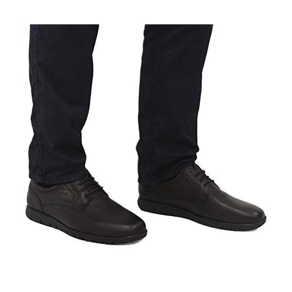 PAYMA – Zapatos de Trabajo, Uniforme y Hostelería de Piel para Hombre. Hechos en España. Acolchados. Repelentes al Agua. Suela de Goma de Caucho. Ideal Camareros, Uniformes. con/Sin Cordones y Velcro