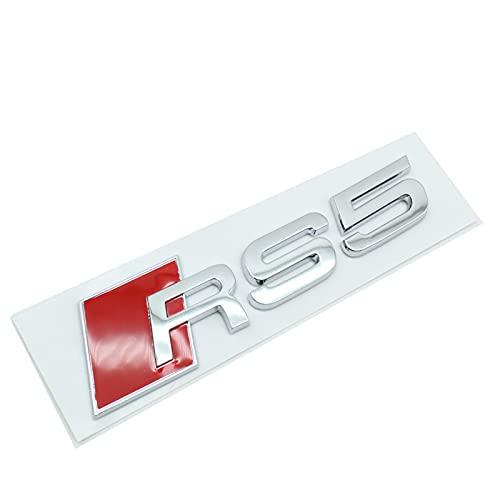 Adesivi e decalcomanie in metallo 3D per auto, per Audi RS3 RS4 RS5 RS6 RS7 RS8 S3 S4 S5 S6 S7 S8 A3 Adesivi per auto con stemma del bagagliaio posteriore