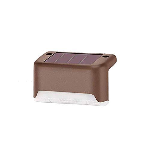 Luz LED Escalonada/Escalera Inalámbrica Solar Interior/Exterior con Sensor de Movimiento Iluminación Resistente a La Intemperie de Acero Inoxidable con Mayor Capacidad de Batería