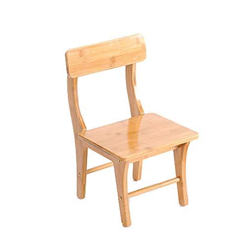 CROWNXZQ Multifunktionaler Bambushocker, Bequeme Rückseite des zusammengebauten kleinen Sitzes, geeignet für Erholung im Freien, Camping, Picknick, 24,5 * 23,5 * 42,5 cm, 2,2 kg