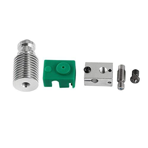 Zubehör-Überwachung Power Upgraded Extruder Hotend HeatSink Kit PT100 V6 Heizblock für 1,75 mm 3D-Drucker 3D-Drucker 3D-Drucker