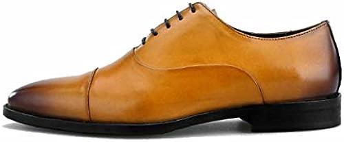 MISS&YG Herren-Büro Schuhe Lederkleider Schuhe Mit Retro-Business-Schuhen